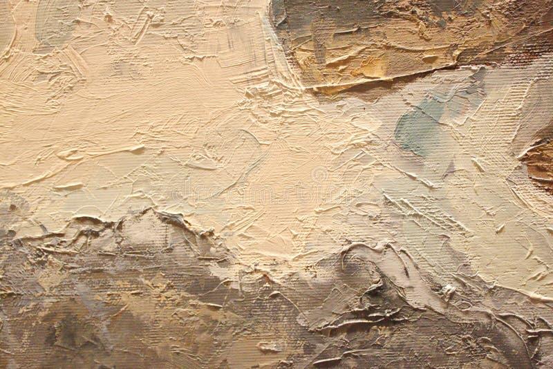 Obraz Olejny zamknięta up tekstura z szczotkarskimi uderzeniami zdjęcia stock