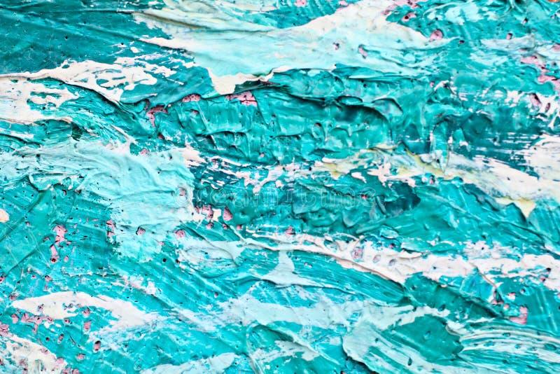 Obraz Olejny zamknięta up tekstura z szczotkarskimi uderzeniami fotografia stock