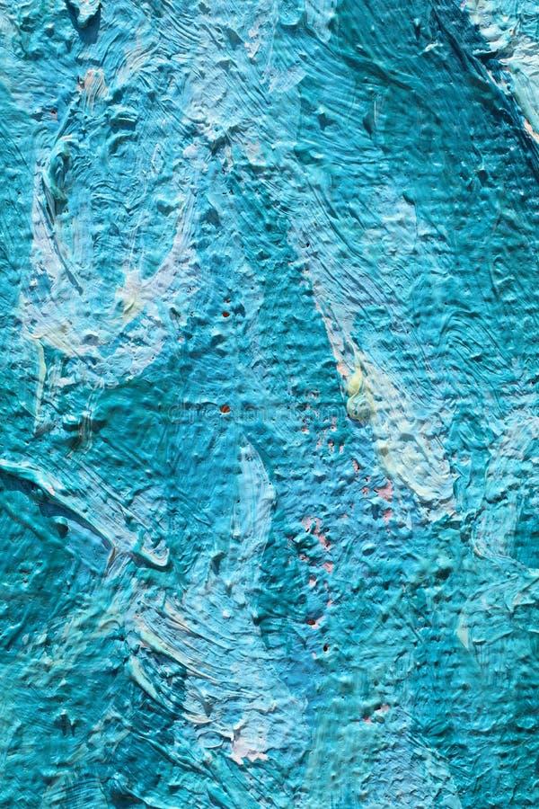 Obraz Olejny zamknięta up tekstura z szczotkarskimi uderzeniami obraz stock