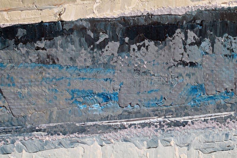 Obraz Olejny zamknięta up tekstura z szczotkarskimi uderzeniami zdjęcie stock