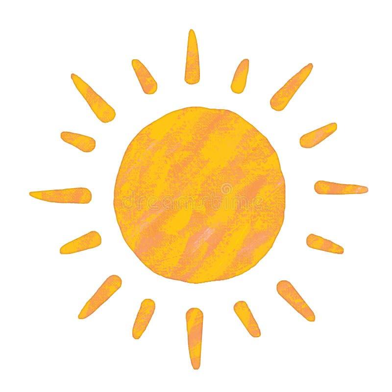 obraz słońce ilustracja wektor