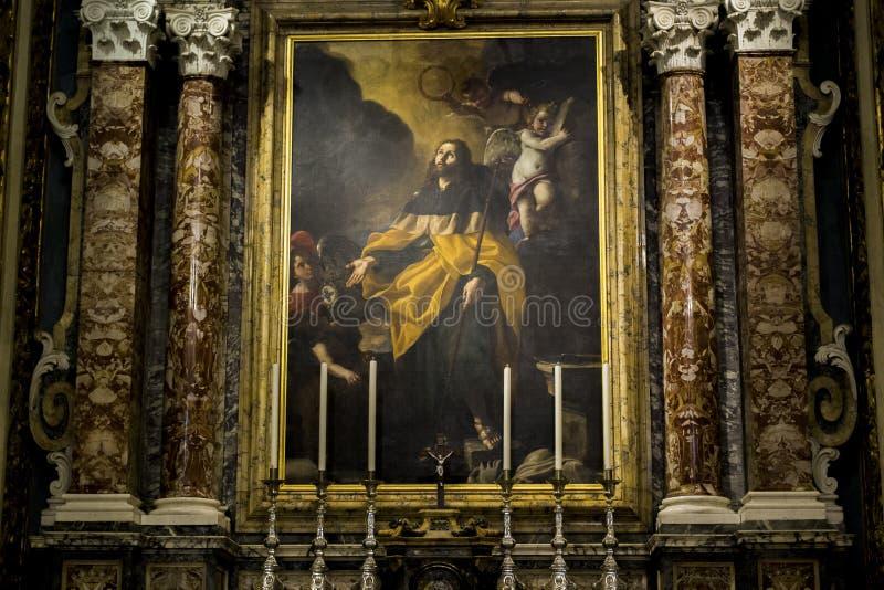 Obraz St James w St John ` s katedrze w Valletta, Malta zdjęcia stock