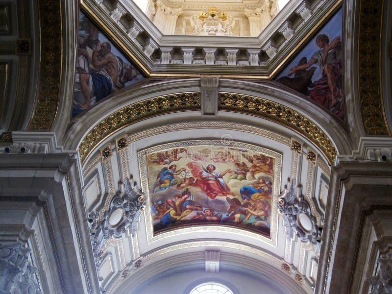 Obraz stary kościół katolicki w Cagliari fotografia royalty free