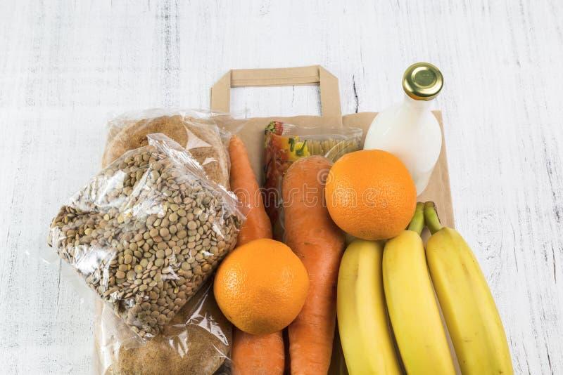 Obraz z dostawą żywności fotografia stock