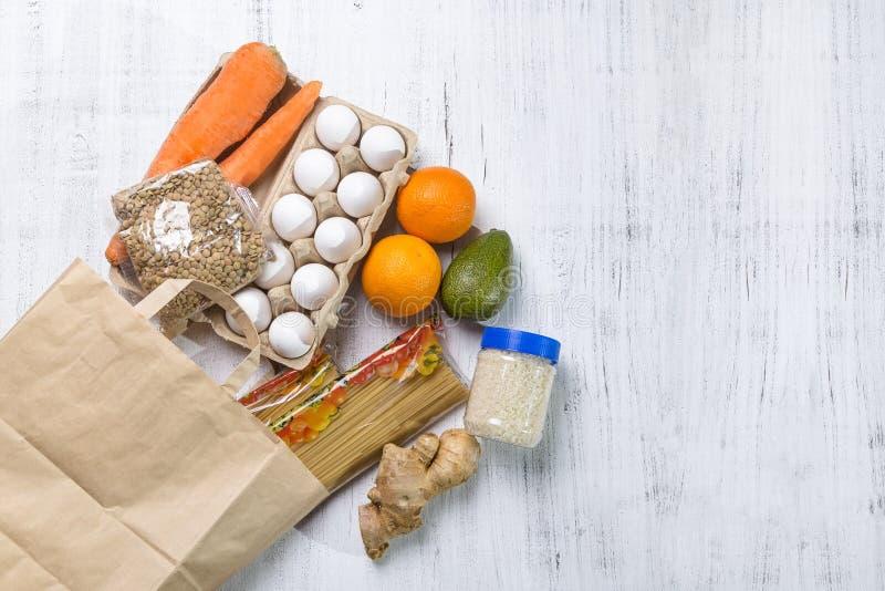 Obraz z dostawą żywności obrazy stock