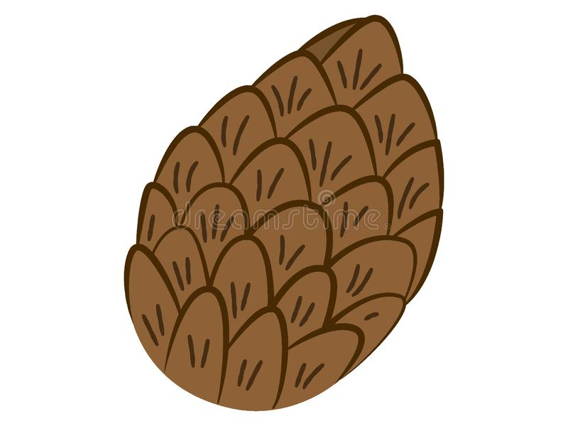 Obrazek Conifer rożek royalty ilustracja