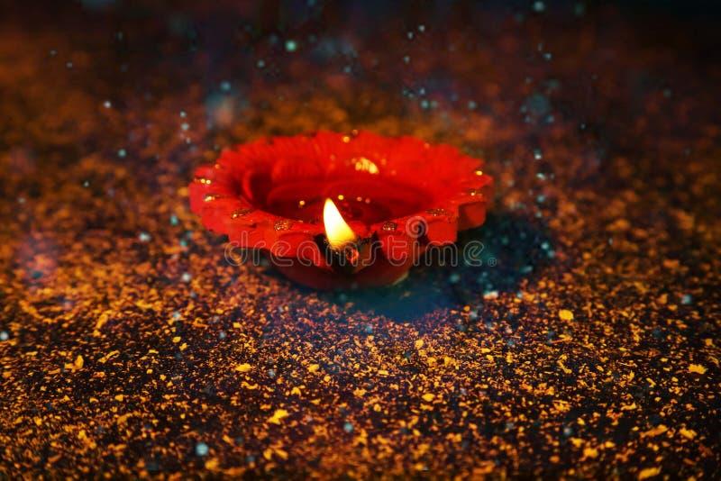 Obrazek dekoracyjny gliniany diya zdjęcie royalty free