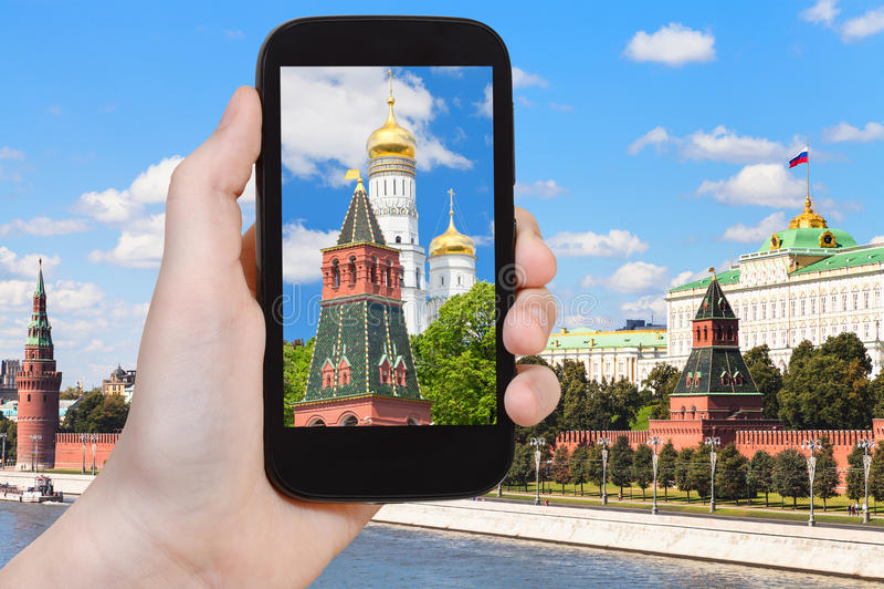 Obrazek katedra w Moskwa Kremlin fotografia royalty free