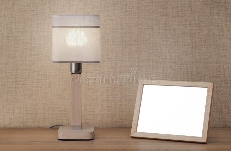 Obrazek lampa i rama fotografia stock