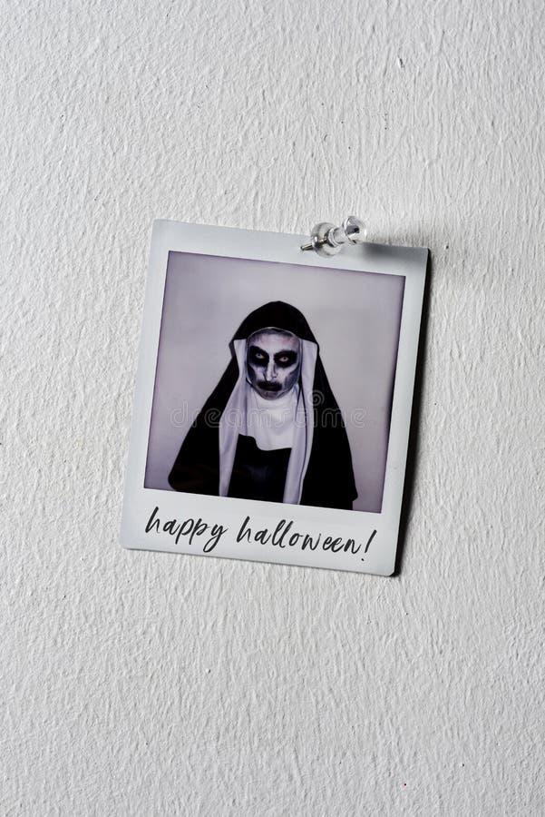 Obrazek magdalenka szczęśliwy Halloween zły tekst i zdjęcia royalty free