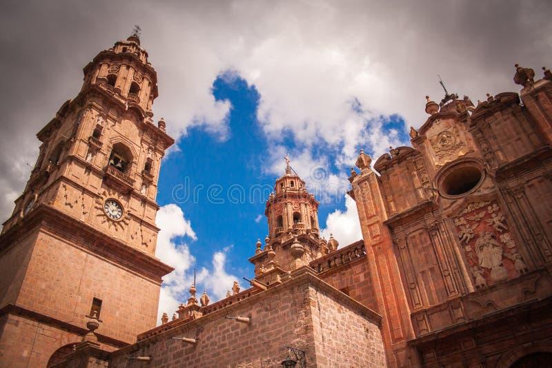 Obrazek moreliakatedra, Michocan, Meksyk zdjęcie stock