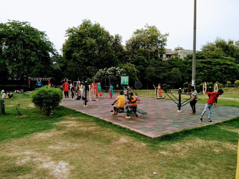 Obrazek otwarty gym w parku, obraz royalty free