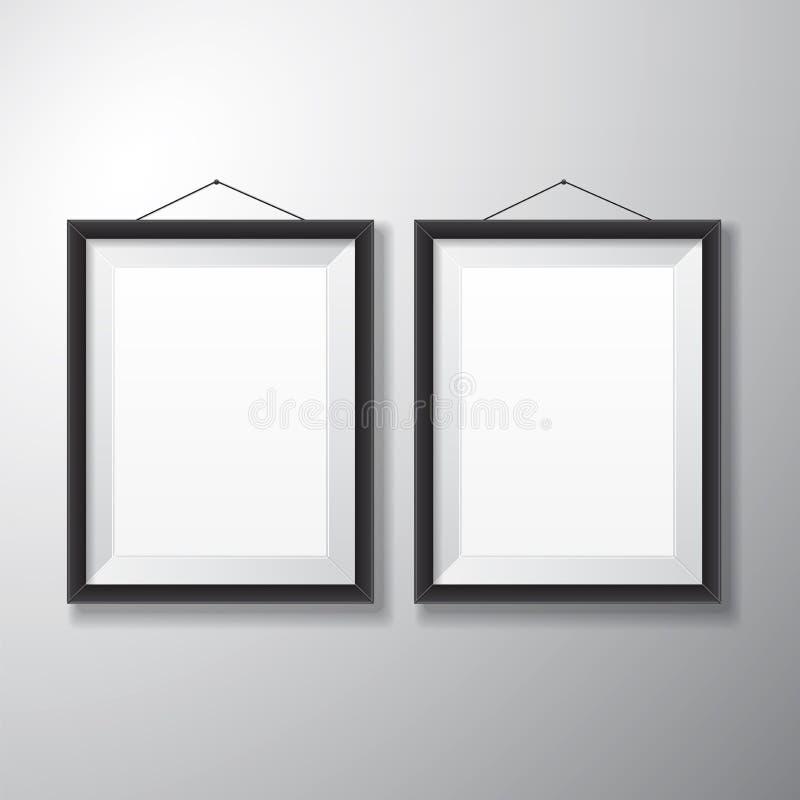 Obrazek ram czerni Vertical zdjęcie stock