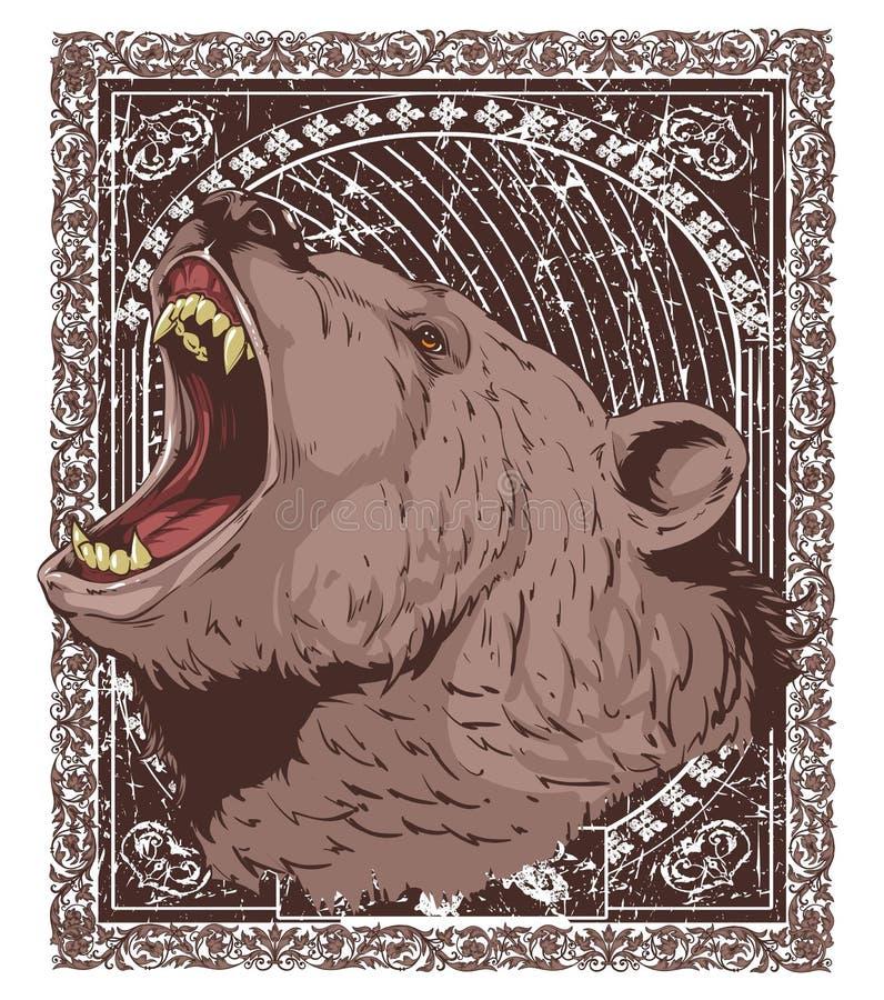Głodny grizzly royalty ilustracja