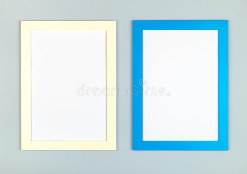 Obrazek ramy mieszkanie kłaść na textured pastel barwiącym papierowym tle fotografia stock