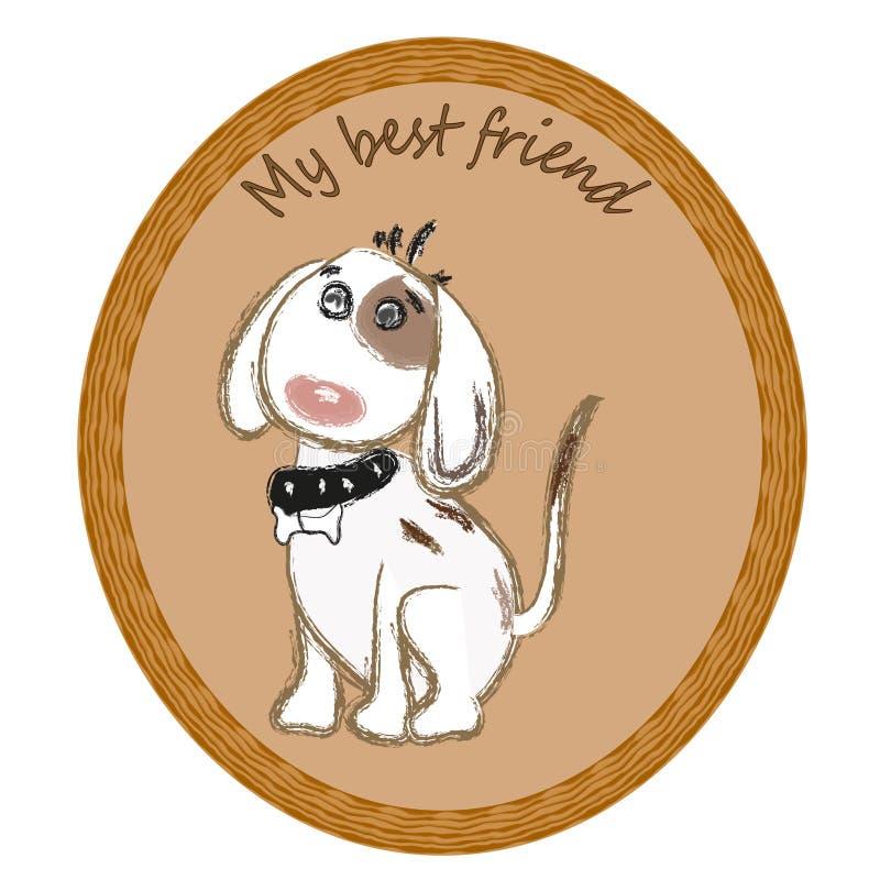 Obrazek ramy pies ilustracja wektor