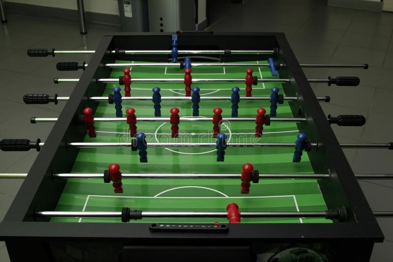 Obrazek stołowy futbol obraz stock