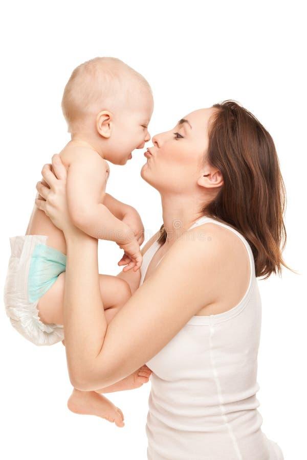 Obrazek szczęśliwa matka z uroczym dzieckiem zdjęcia royalty free