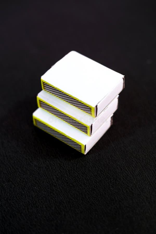 Obrazek trzy dopasowań pudełko zdjęcie royalty free