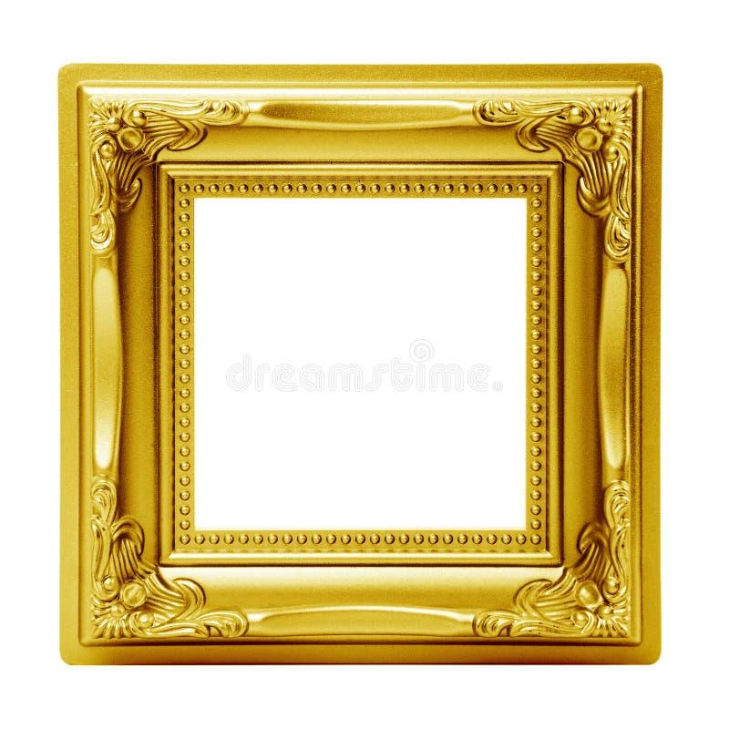 Obrazek złota odosobniona rama obraz stock