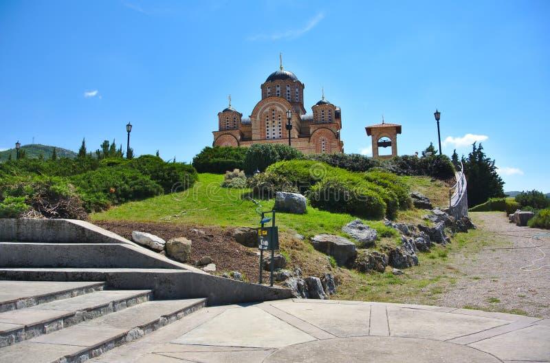 Obrazka średniowieczny kościół w Trebinje Herzegovacka Gracanica zdjęcie stock