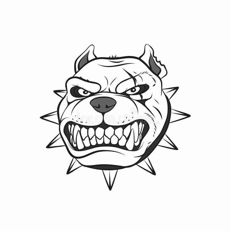 Obrazka gniewny pitbull royalty ilustracja