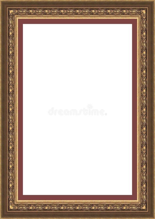 obrazka ramowy złocisty rocznik fotografia royalty free
