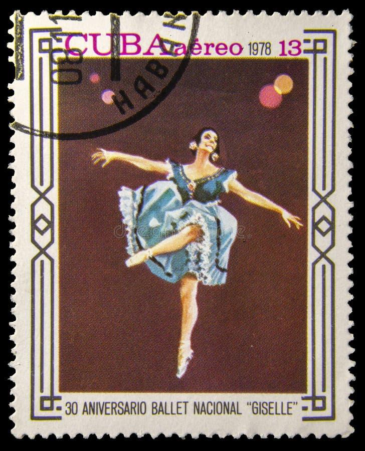 Obrazka znaczek pocztowy - baletniczy nacional Giselle zdjęcie royalty free
