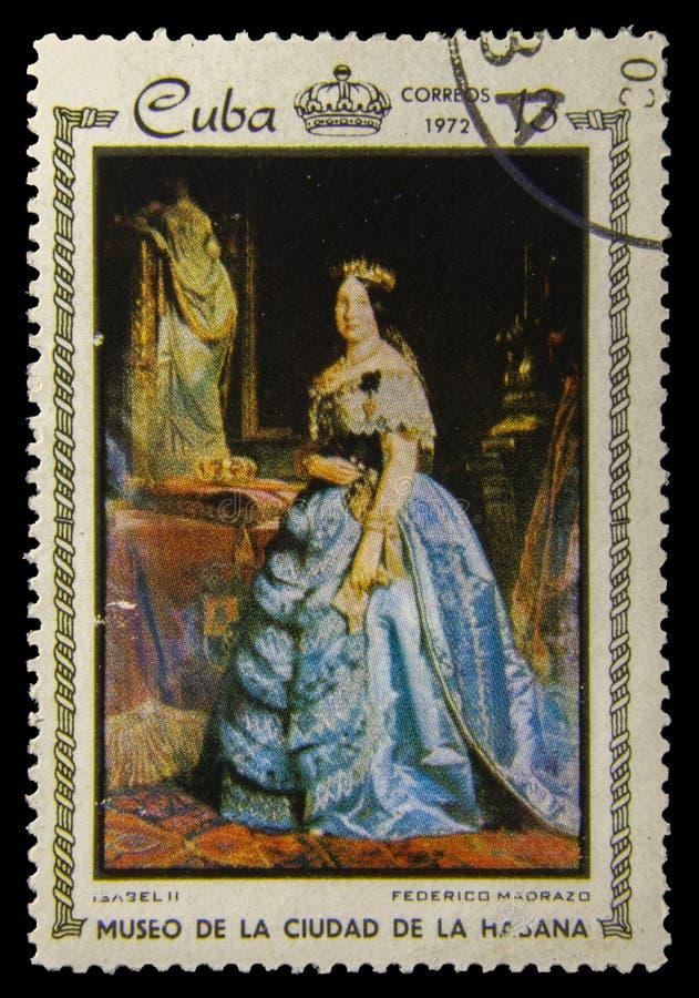 Obrazka znaczek pocztowy Federico Maorazo - Isabel II - zdjęcie royalty free