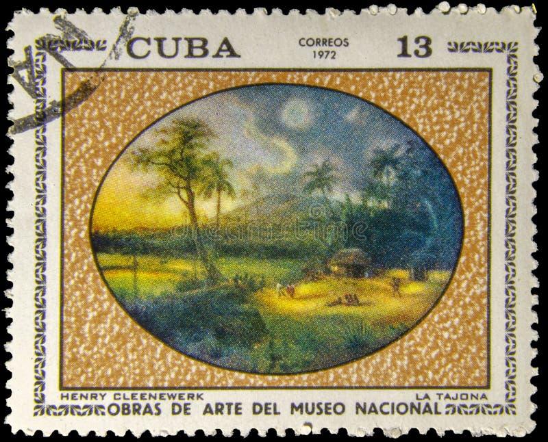 Obrazka znaczek pocztowy los angeles Tajona - Henry Cleenewerk - obraz stock