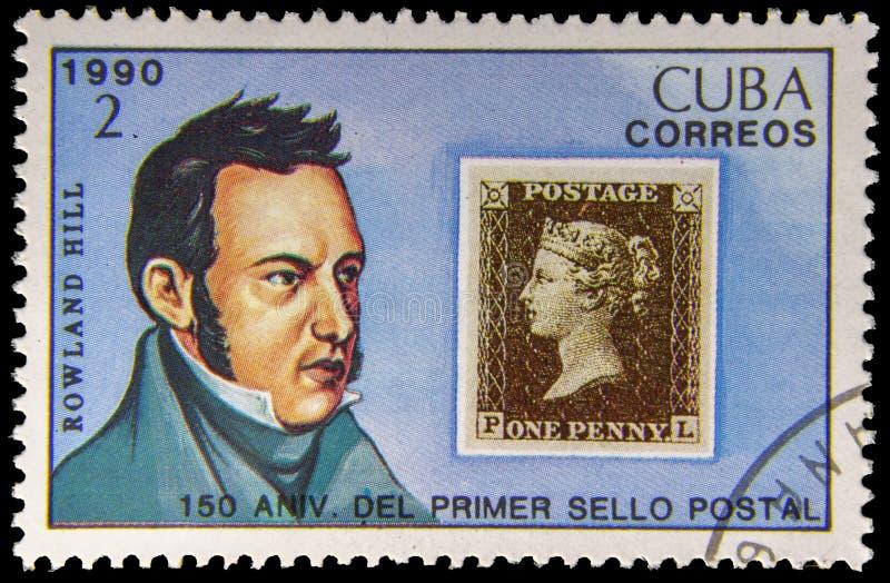 Obrazka znaczek pocztowy - Rowland wzgórze obrazy royalty free