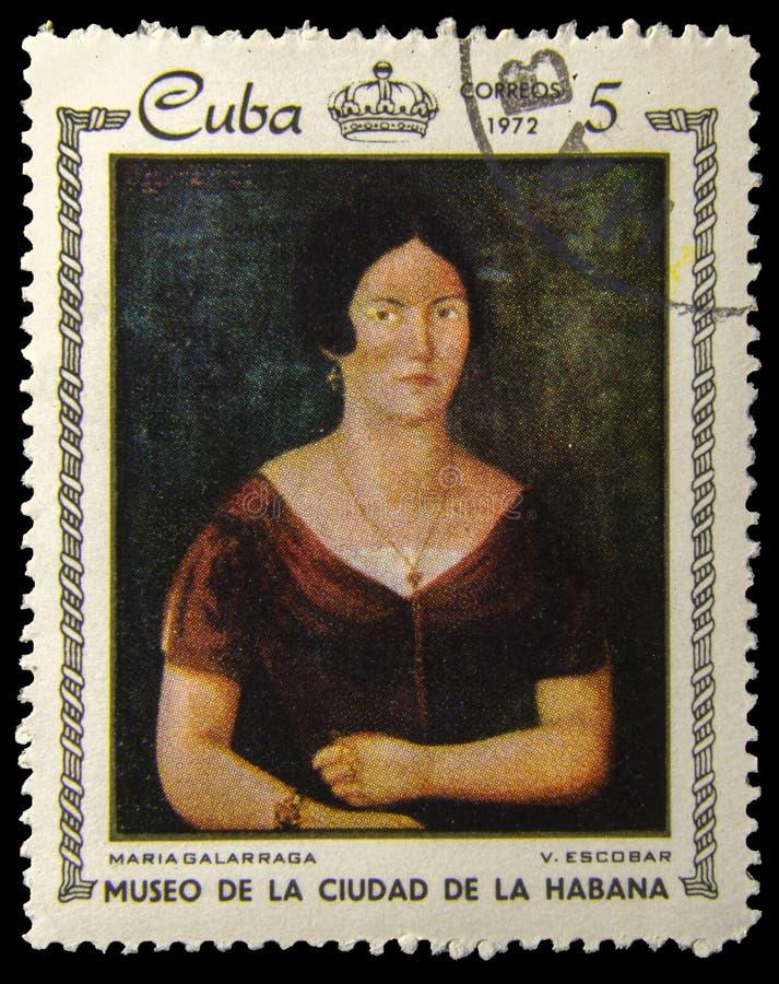 Obrazka znaczek pocztowy V - Maria Galarraga - Escobar obrazy royalty free