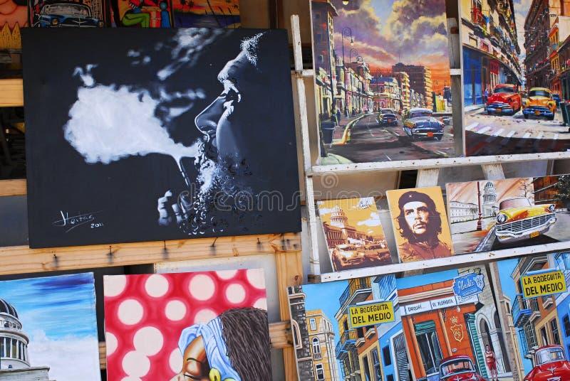 Obrazki w Hawańskim - Kuba fotografia royalty free