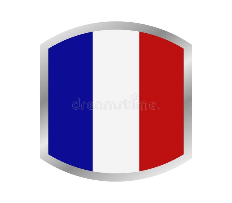 Obrazkowa flaga Francja ilustracji