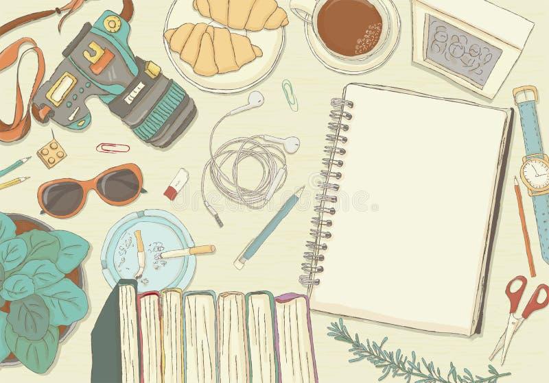 Obrazkowa miejsce pracy organizacja ilustracja wektor