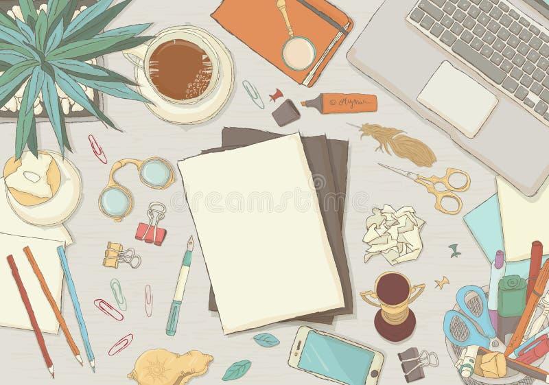 Obrazkowa miejsce pracy organizacja ilustracji