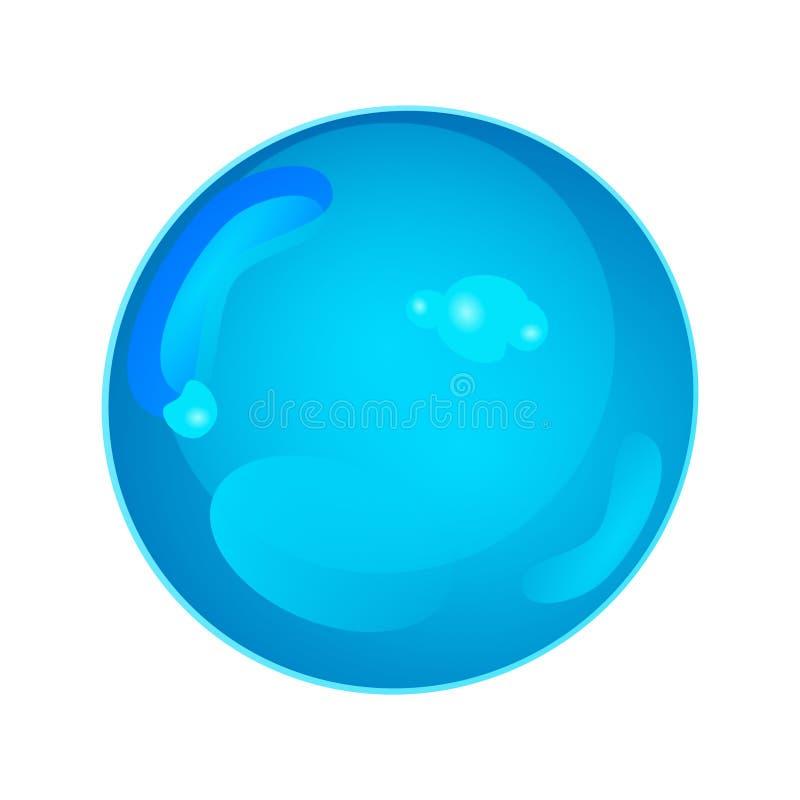 Obrazkowa wody kropla ilustracja wektor
