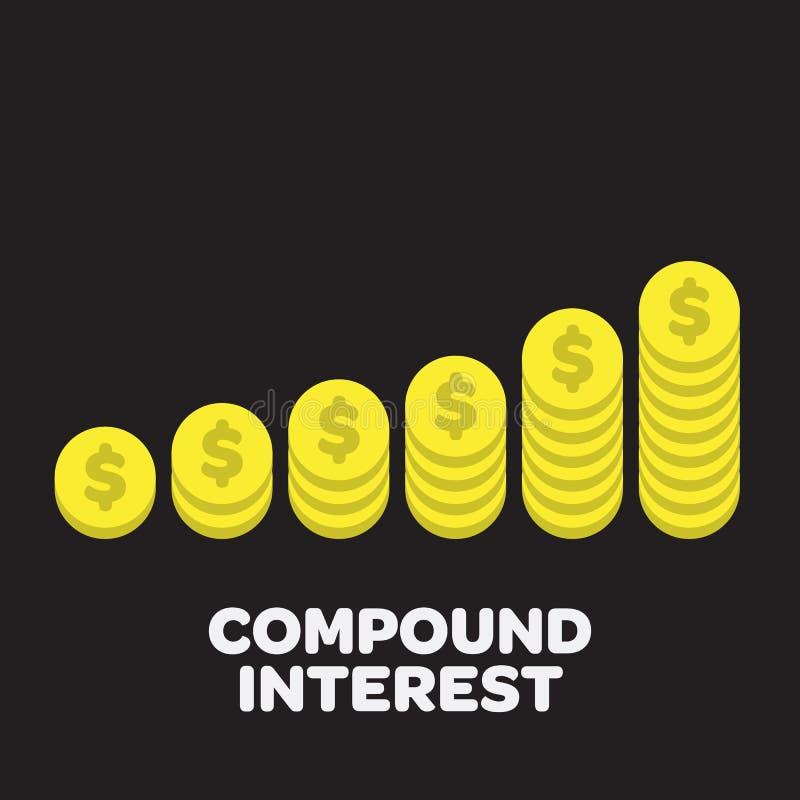 Obrazkowe Z?ociste monety royalty ilustracja