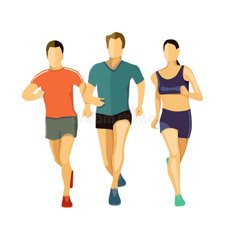 Obrazkowi biegacze royalty ilustracja
