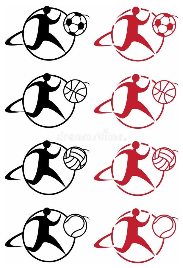 obrazkowi ikona sporty ilustracja wektor
