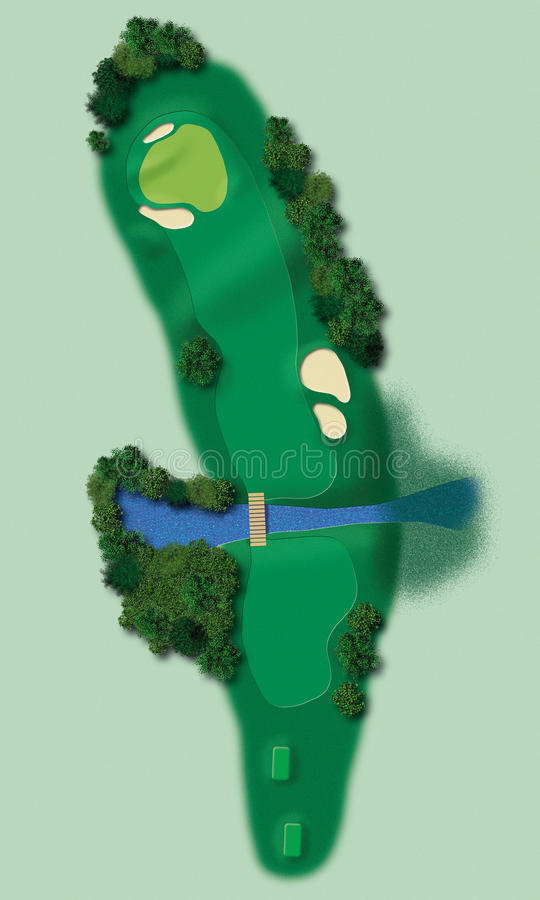 obrazkowy golfa pas ruchu ilustracji