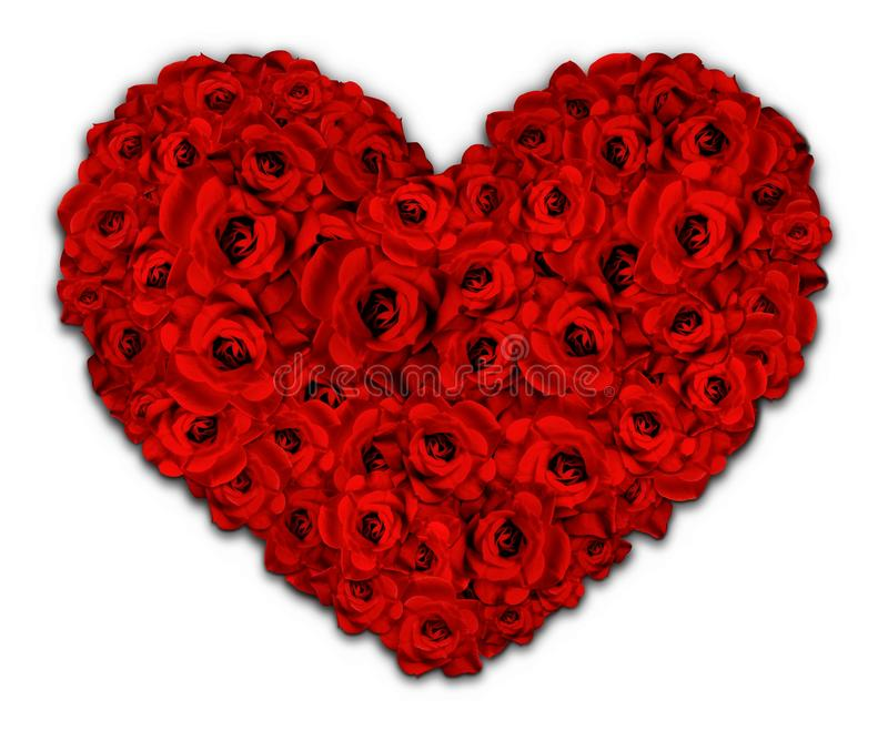 Serce kwiaty ilustracja wektor