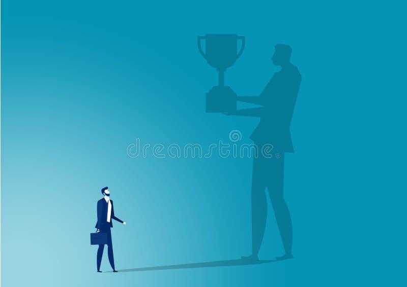 Obrazowanie biznesowe w kierunku nagrody dla wektora sukcesu ilustracja wektor