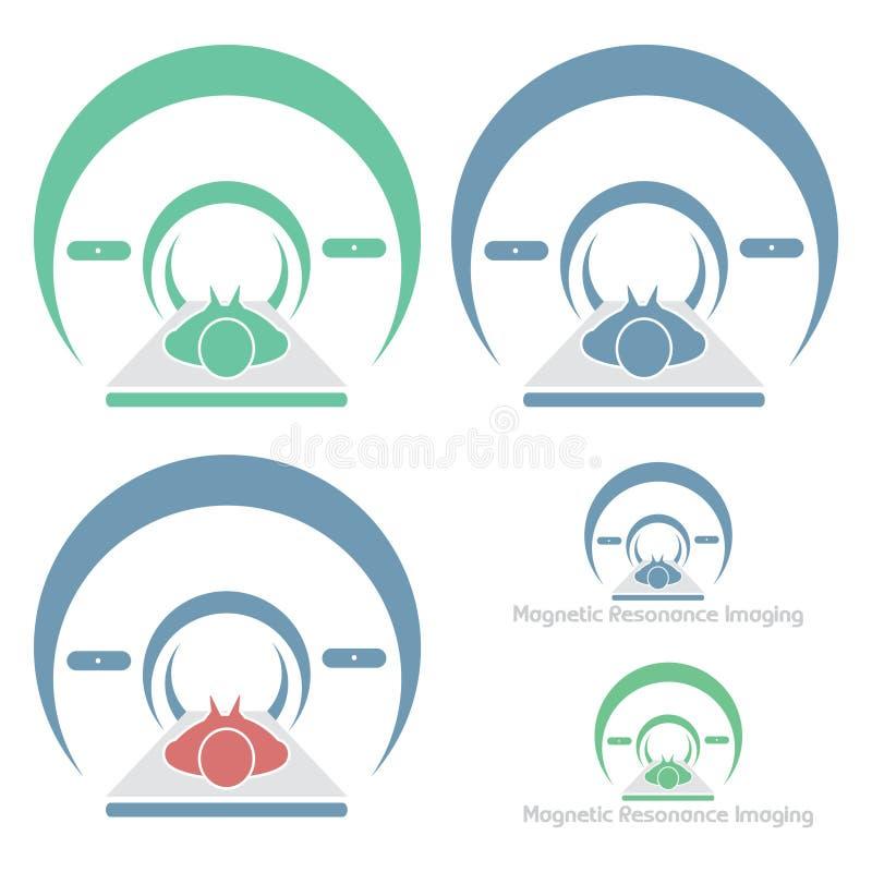 Obrazowanie Rezonansem Magnetycznym ilustracja wektor