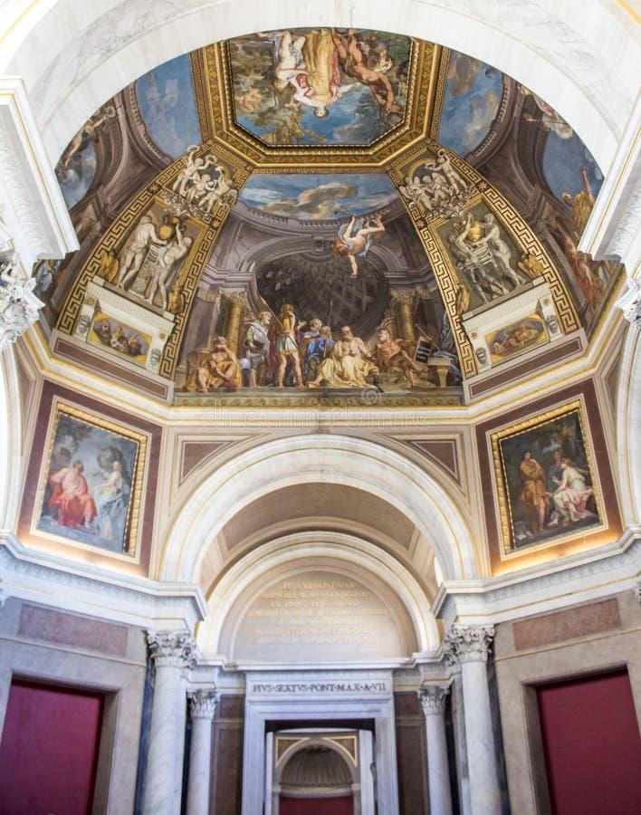 Obrazu fresku sufity w Watykańskim muzeum fotografia royalty free