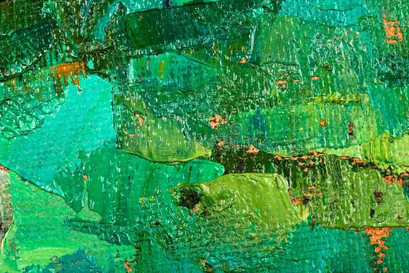 Obrazu olejnego abstrakta brushstrokes obraz stock