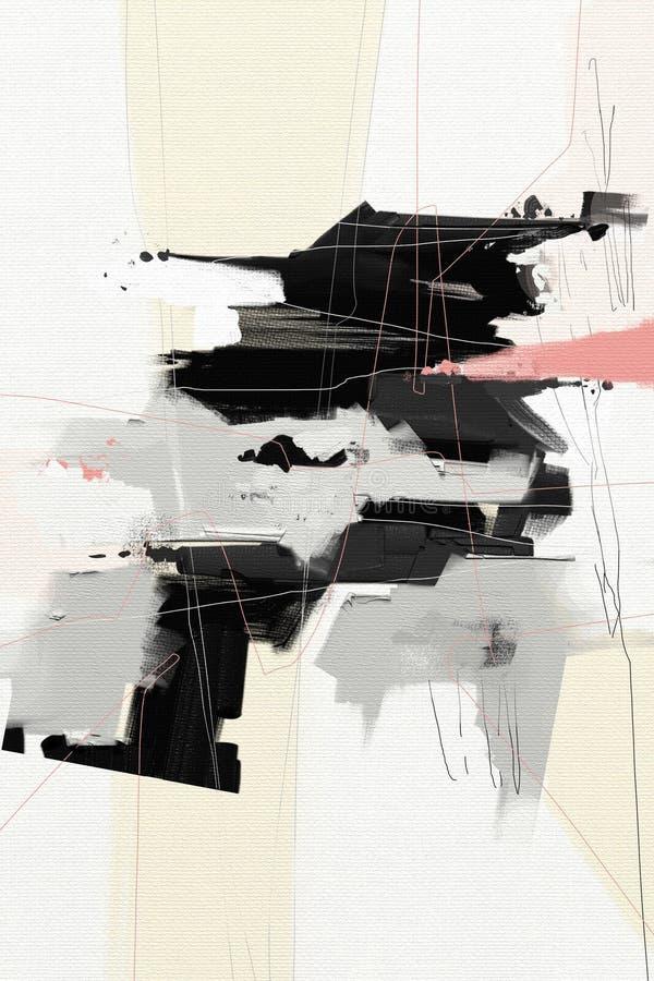 Obrazu olejnego abstrakta stylu grafika na kanwie royalty ilustracja
