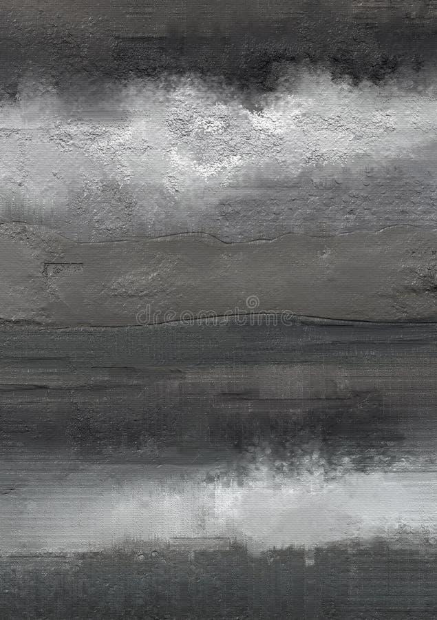 Obrazu olejnego abstrakta stylu grafika na kanwie obraz royalty free