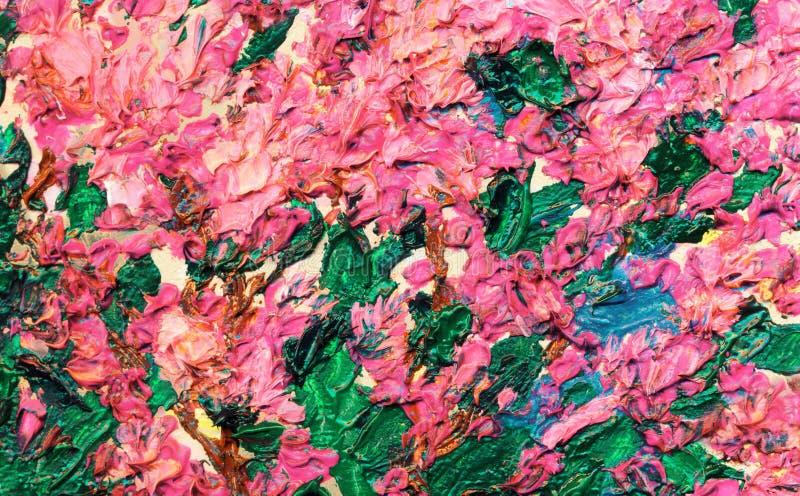 Obrazu olejnego Lily krzak w wio?nie obraz royalty free
