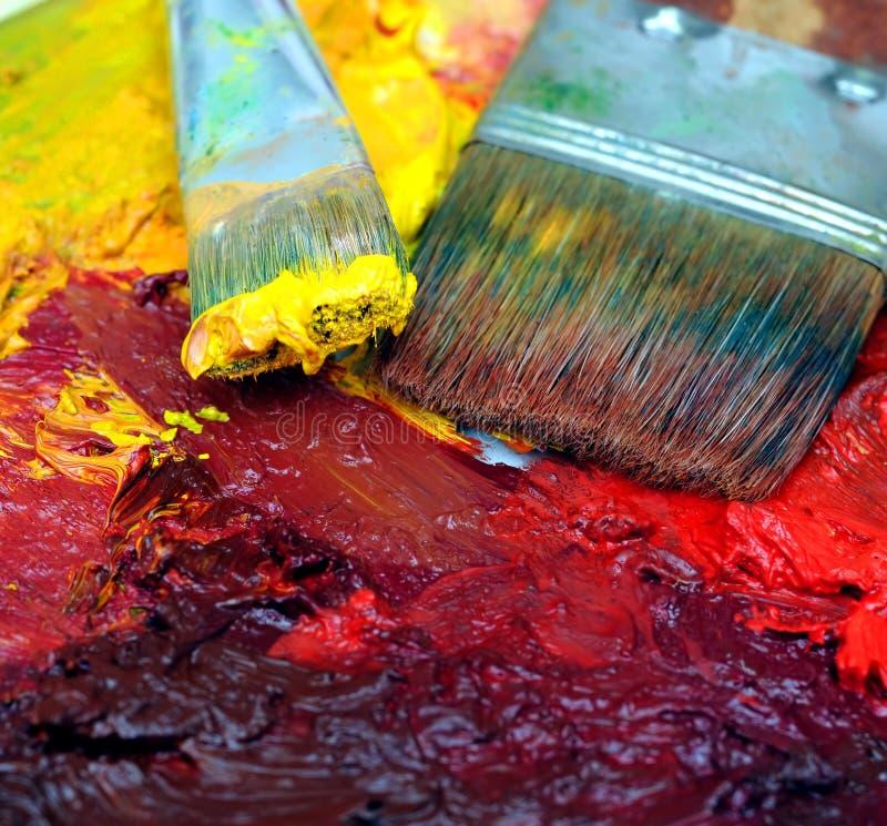 obrazu olejnego paleta artysty obrazy royalty free